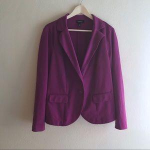 Torrid | Purple Button Blazer